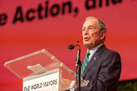 Michael Bloomberg, the former mayor of New York, UN climate envoy and head of the C40 cities group focused on climate action, filed papers this week with the Federal Election Commission to be a Democratic candidate for president. Credit: Ole Jensen/Getty Images  Click to Enlarge.