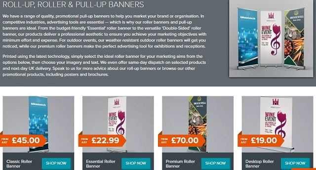 bootstrap business blog pull-up banner advertising retail marketing