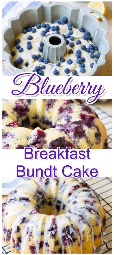 Delicious Blueberry Breakfast Bundt Cake