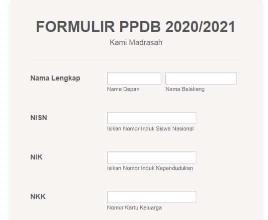 Cara membuat Formulir PPDB Online Gratis