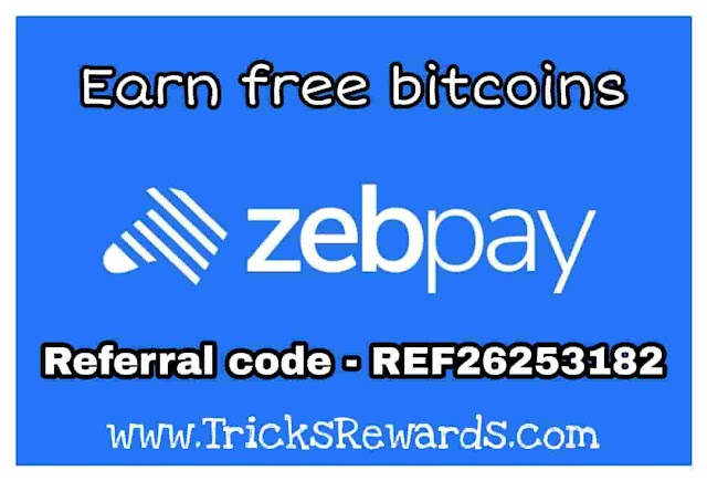 [Loot] Zebpay Referral code- REF26253182: Get 100 Rs. on sign up + Refer & earn 100 Rs.
