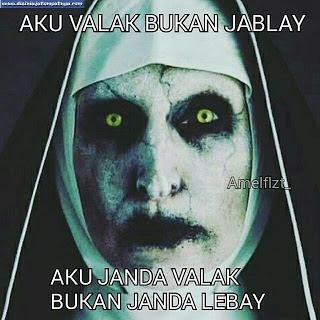 Gambar lucu Setan Valak atau Iblis di film Conjouring  Kumpulan Gambar Meme Valak Lucu The Conjouring 2 Terbaru