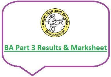 Kashi Vidyapith BA Part 3 Result 2020
