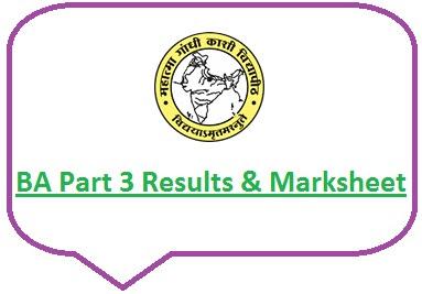 Kashi Vidyapith BA Part 3 Result 2021