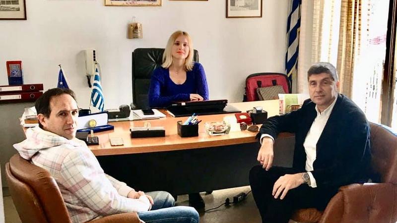 Ενημερωτική επίσκεψη Παύλου Μιχαηλίδη στην Πρόεδρο της Κοινότητας Μάκρης