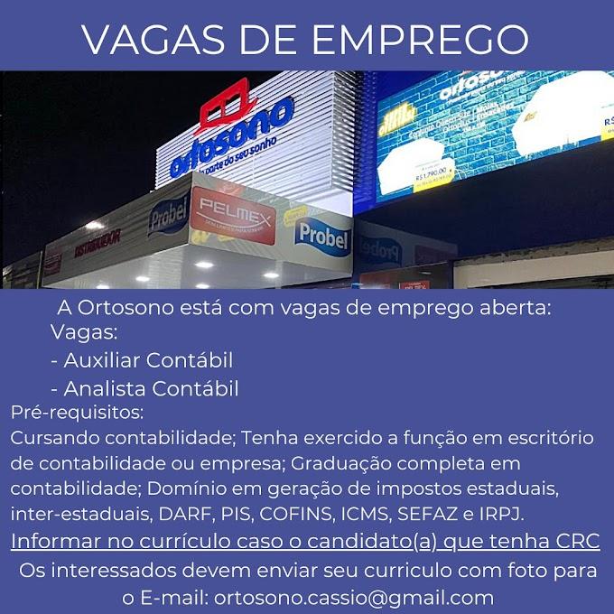 AUXILIAR CONTÁBIL/ANALISTA CONTÁBIL - ORTOSONO