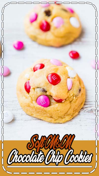 Soft M&M Chocolate Chip Cookies - The softest, thickest, best M&M cookies ever! People love these big cookies loaded with M&Ms & chocolate!