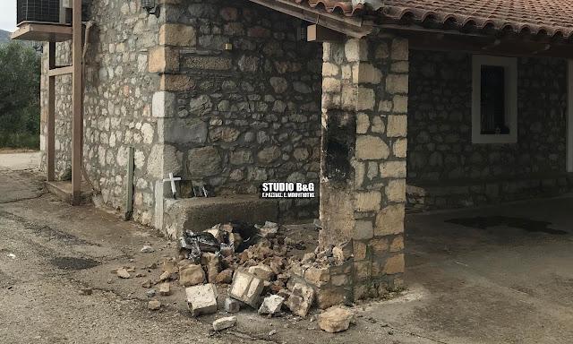 Βάνδαλοι γκρέμισαν πέτρινο εικονοστάσι της Αγίας Μαρίνας στον Ίναχο Αργολίδας