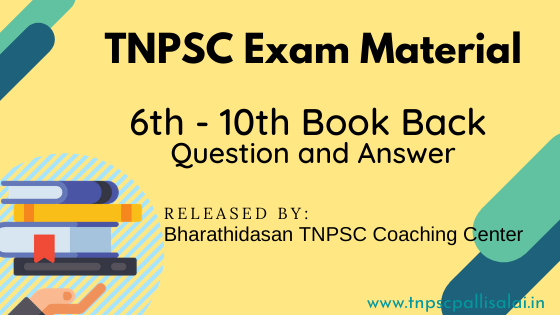 6th to 10th Important Book back Question and Answer