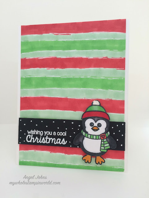Sunny Studio Stamps Bundled Up Penguin Christmas Card by Angel Johns.