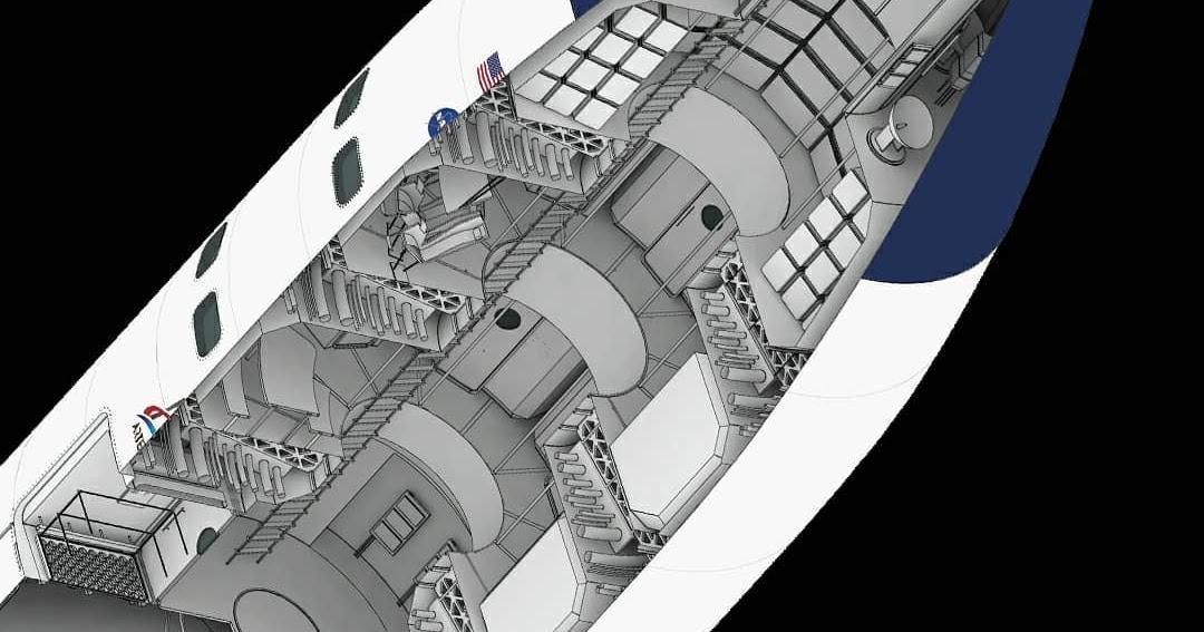 Cutaway diagram of SpaceX Lunar Starship | human Mars