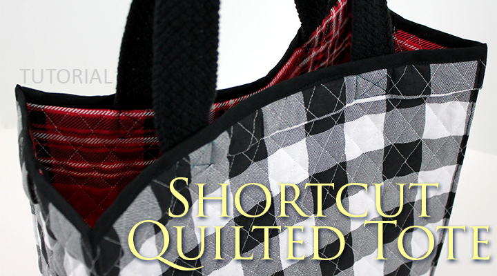 Great tutorial how to sew a boxy quilted tote bag | Shortcut Quilted Tote on The Inspired Wren