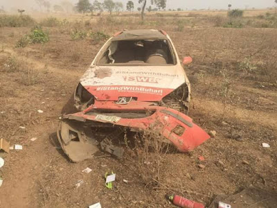Photos: #IStandWithBuhari Head of Northern Operation involved in a motor accident in Kaduna