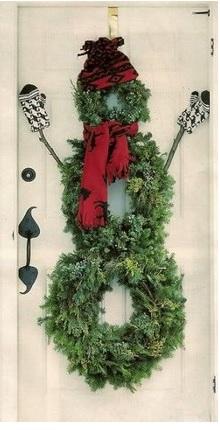 decoraciones de navidad en la puerta, como decorar la puerta en navidad, decoraciones navideñas para puerta