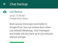 Cara backup dan restore chat whatsapp dari googledrive