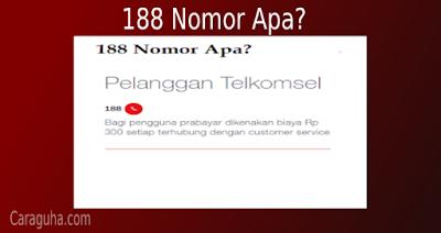 188 nomor apa?