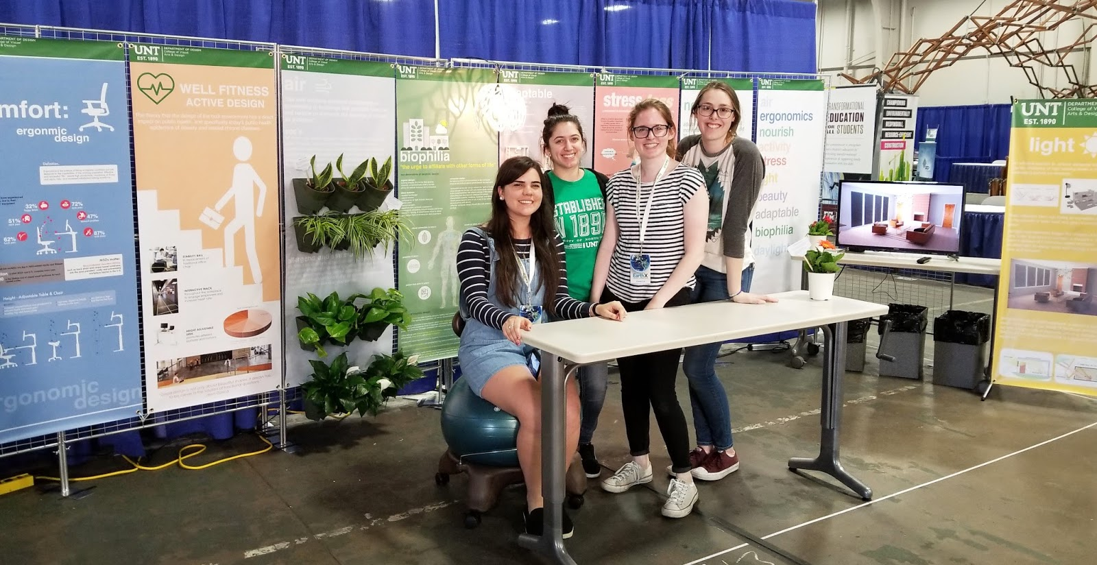 UNT CVAD Interior Design program booth was located in the Automotive Building. It was great success to represent UNT ID program incorporated with ...