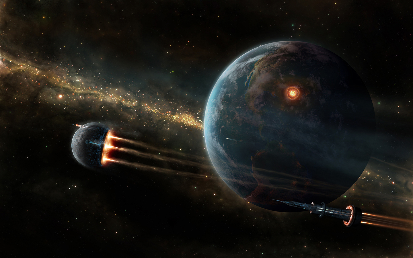 Future Space And Planets Wallpaper