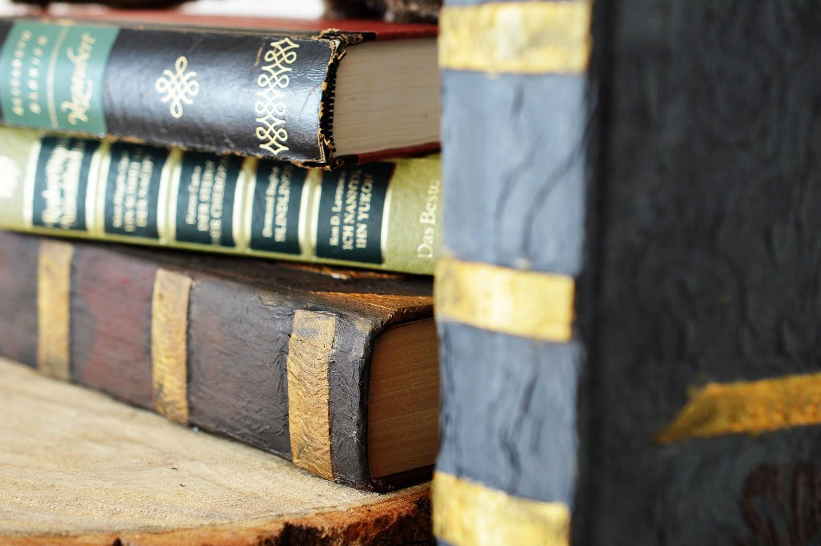 details of DIY Papier-Maché Spell Books