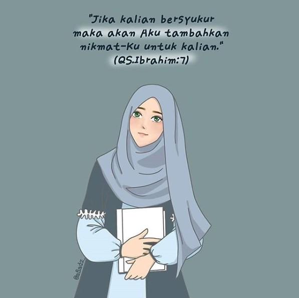 kartun muslimah dp instagram
