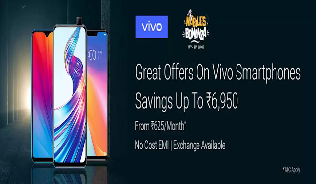 Vivo Mobile Bonanza :Great Offer On Vivo Smartphone 17th To 21 June