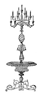 candelabra illustration digital clipart artwork image