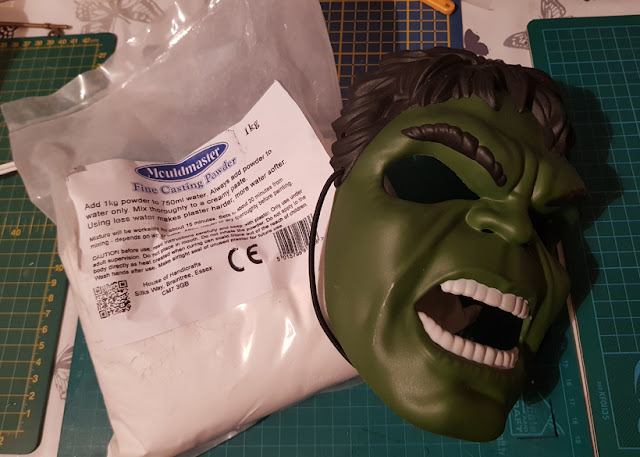 Casting Powder and a Mask is all you need to create a funky looking plant pot
