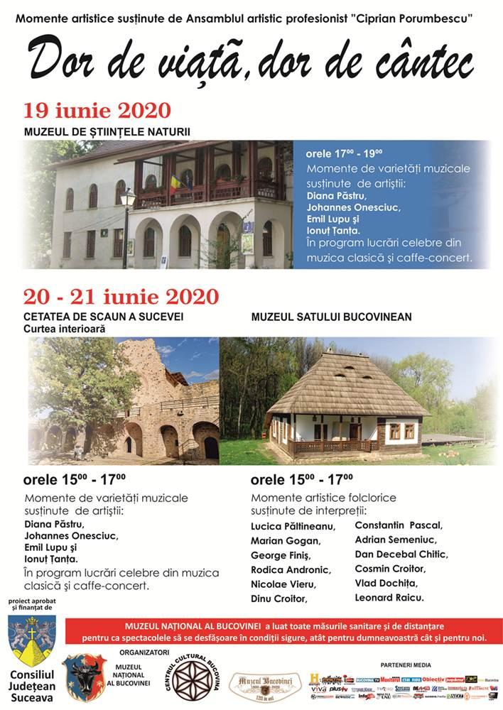 Dor de Viață, Dor de Cântec, 19-21 iunie 2020