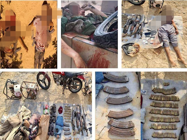 القوات المسلحة تعلن القضاء على 2 تكفيريً وتدمير 317 مخبأ ووكر تستخدهم العناصر الإرهابية