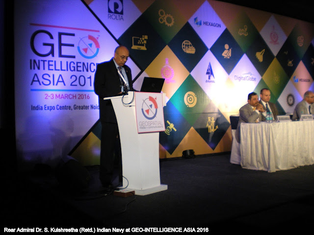 RADM Dr. S. Kulshrestha (Retd.), Indian Navy at Geo-Intelligence Asia 2016