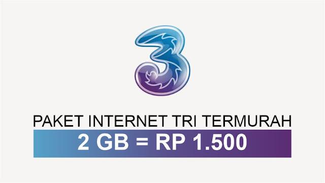 Paket Internet Paling Murah 2GB Rp 1,5K Ful Work All Simcard 3 TRI