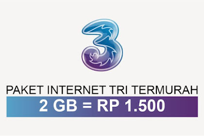 Paket Internet Paling Murah 2GB Rp 1,500 Full Work All Simcard 3