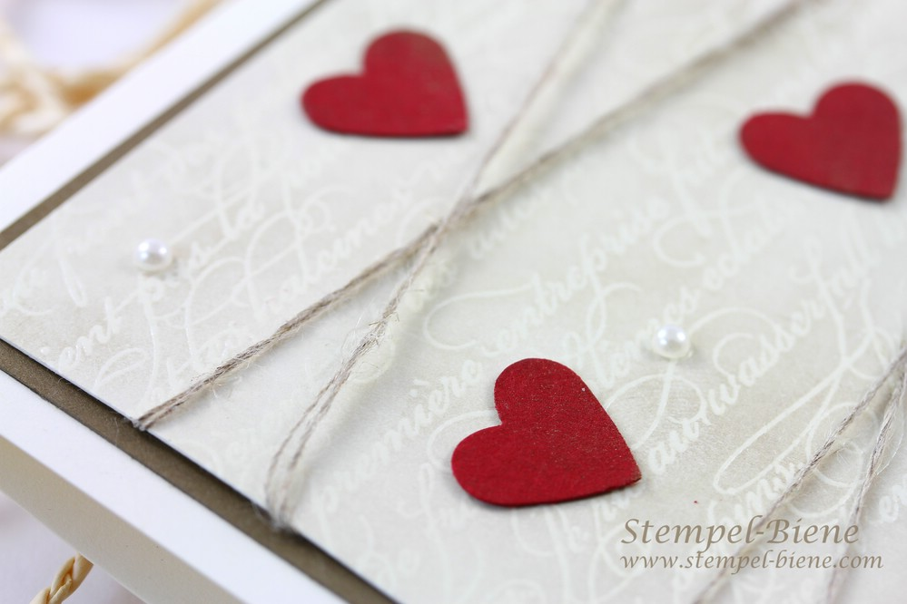 Stampin' Up Hochzeitskarte, Stampin Up En Francais, Von heute an, Language of Love, Match the Sketch, Stampin' Up Auslaufliste 2014, Stampin' Up Jahreskatalog 2014-2015, Stampin' Up Sammelbestellung