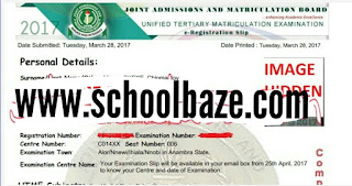JAMB 2017/18 Examination Center/Date Allocation And Printing Schedule