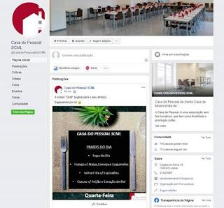 facebook Casa do Pessoal SCML