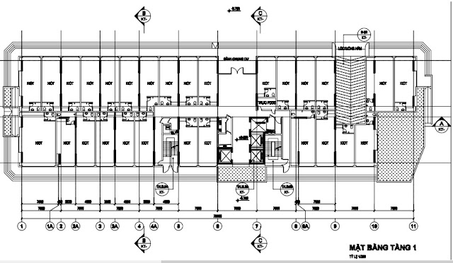 Mặt bằng kiot tòa HH03B chung cư B1.3 Thanh Hà