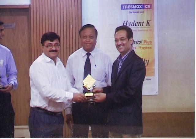 Dr. Bharat Katarmal with his endodontia mentor Dr. P. D. Joshi
