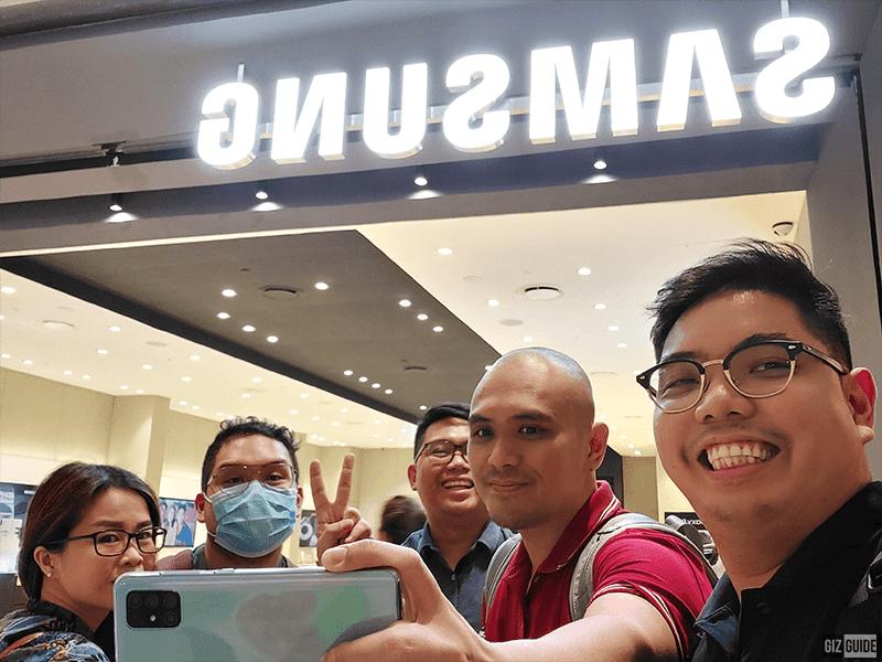 Indoor selfie