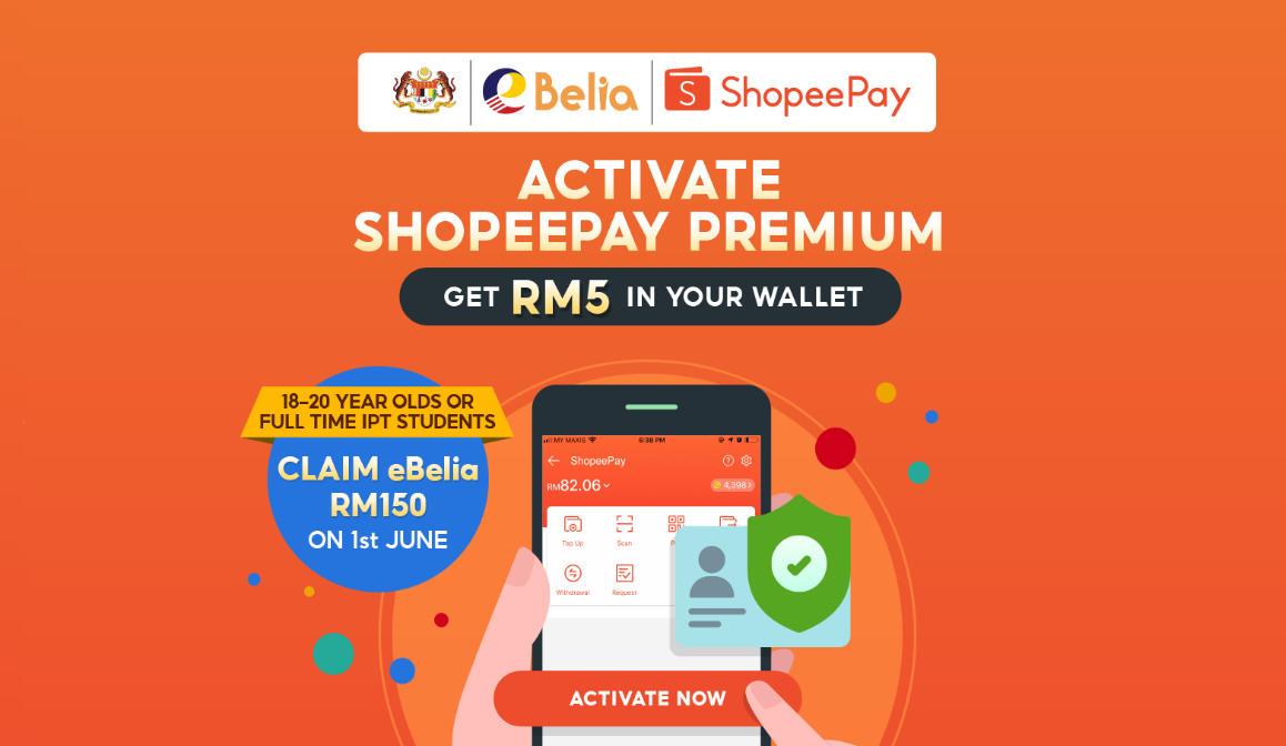 Cara Tebus eBelia RM150 Menggunakan ShopeePay