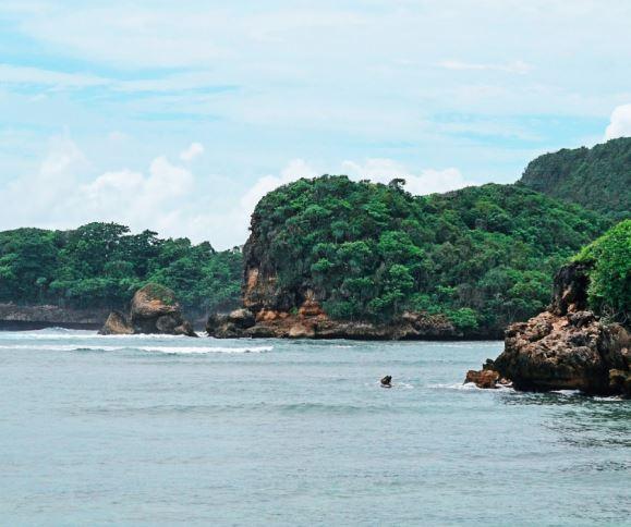 Daya tarik pantai gatra, pantai gatra kota malang, pantai malang, hutan mangrove, aktivitas di pantai gatra, malang raya, kota malang, santuy times
