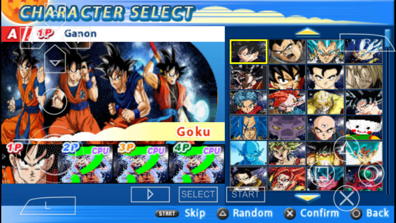 DBZ TTT MOD BT3 iso with permanent Menu