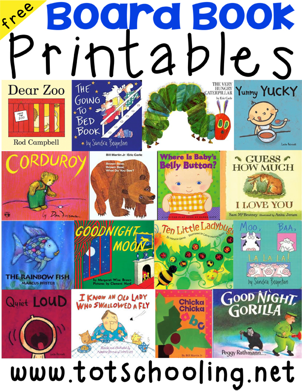 Free Board Book Printables for Toddlers