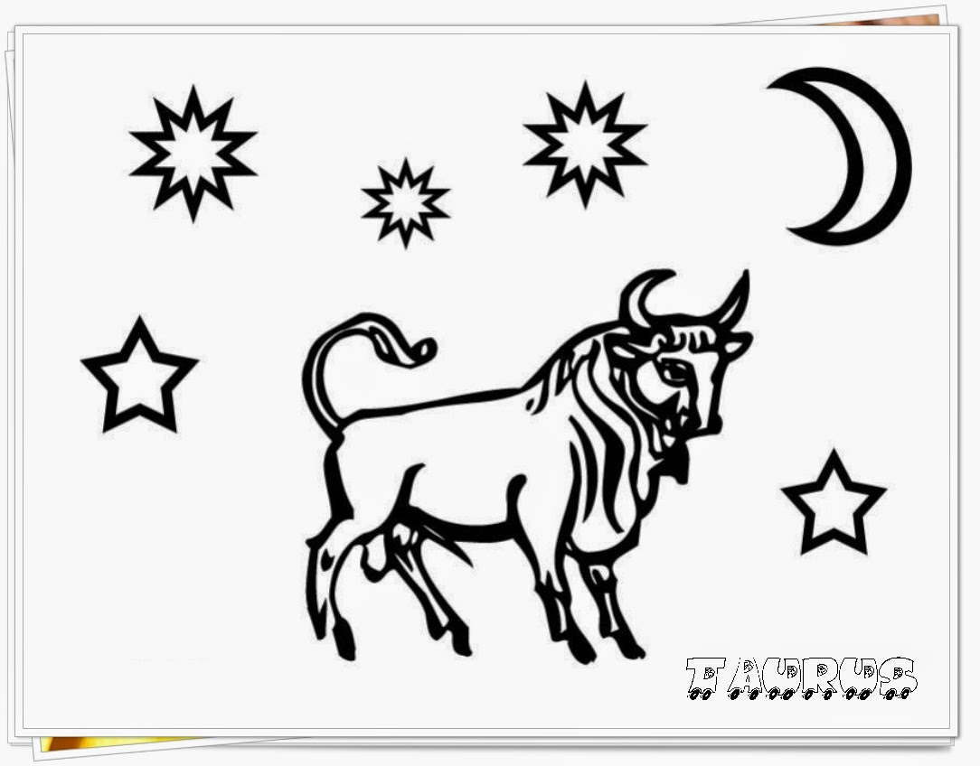 taurus printable zodiac coloring pages