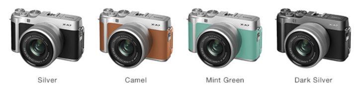 Четыре цвета Fujifilm X-A7