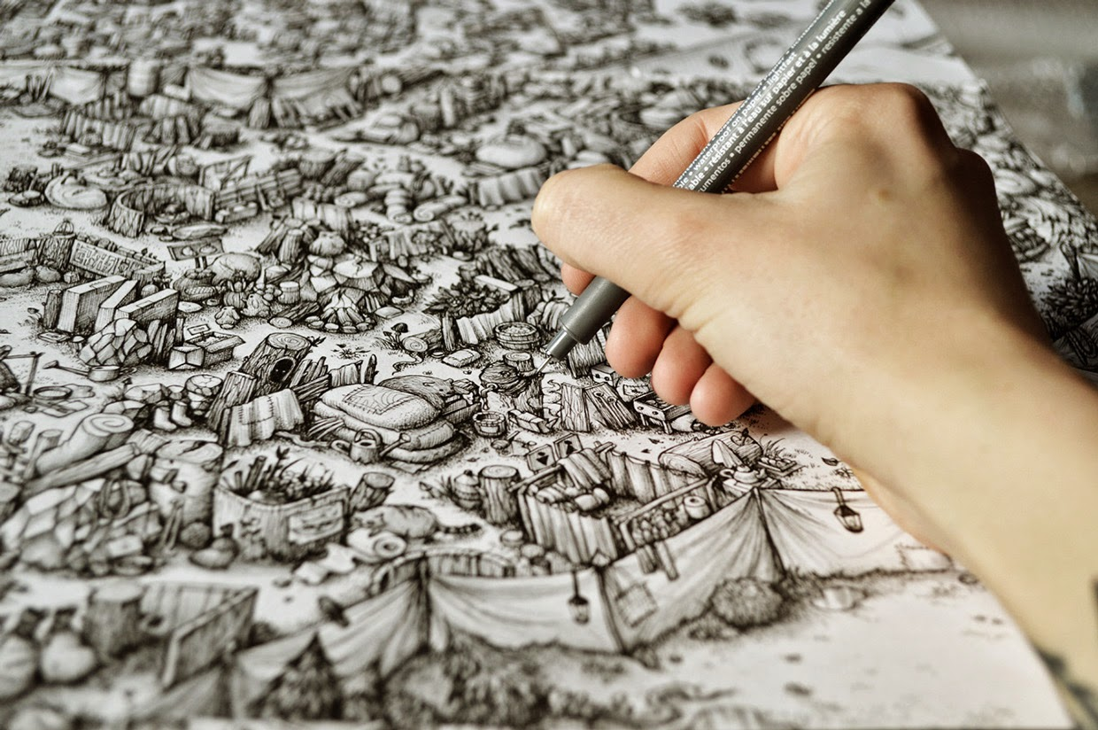 06-Marija-Tiurina-Intricate-and-Detailed-Ink-Maze-Drawings-www-designstack-co