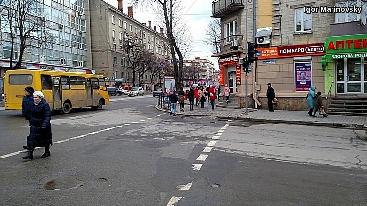 Crosswalk in some Ukrainian town