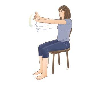Peregangan fleksor pergelangan tangan