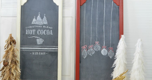 How To Make Holiday DIY Chalkboards From Old Mirrors