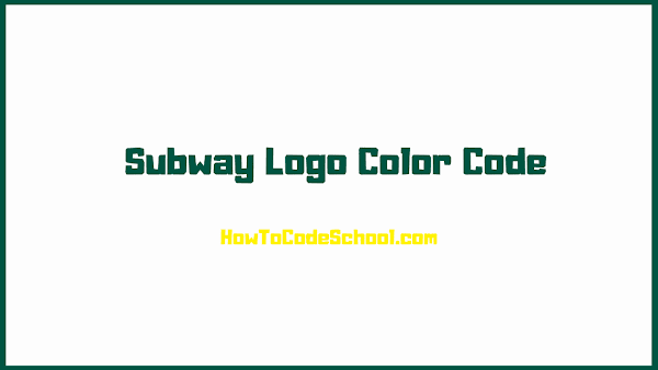 Subway Logo Color Code