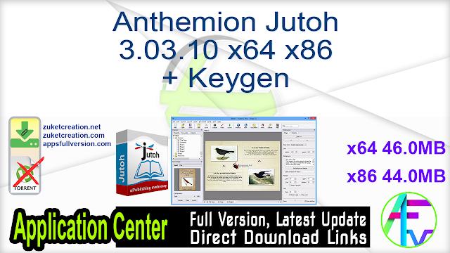 Anthemion Jutoh 3.03.10 x64 + Keygen